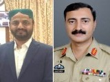 PPP MPA Tariq Masood Arain and Karachi Corps Commander Lt General Shahid Baig Mirza. PHOTO: File