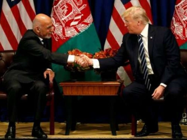 Trump on his meeting with Afghanistan's president: 'A pleasure!'