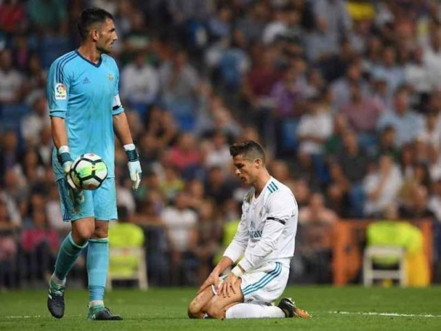 Real Betis break Ronaldo's heart on return