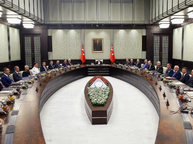 Turkish President Tayyip Erdogan chairs a National Security Council meeting in Ankara, Turkey. PHOTO: REUTERS