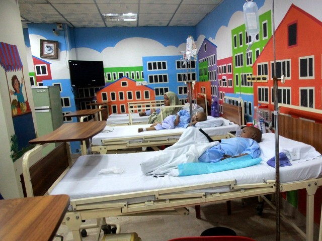 The children's cancer centre at NICH treats children up to 14 years of age of which more than 60% are from Karachi, while the rest come from other parts of Sindh. PHOTOS: ATHAR KHAN/EXPRESS