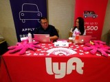 recruiters-for-lyft-wait-for-the-opening-of-a-job-fair-in-golden