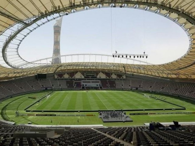 General view of the Khalifa International Stadium in Doha after it was refurbished ahead of the Qatar 2022 FIFA World Cup. PHOTO: AFP
