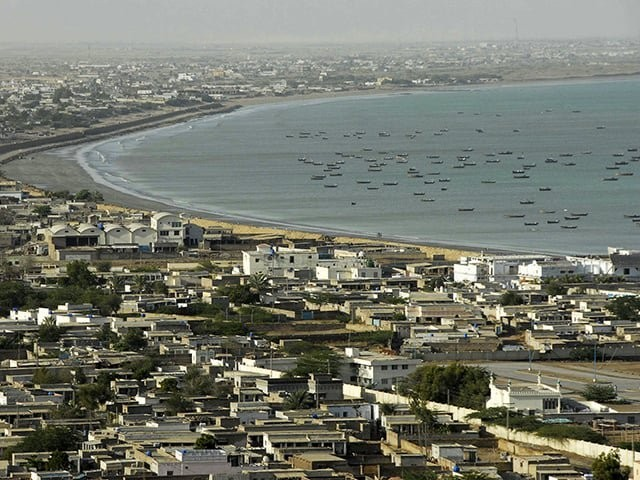 A general view of the Pakistani coastal town of Gwadar on the Arabian Sea in this March 19, 2007. PHOTO: REUTERS