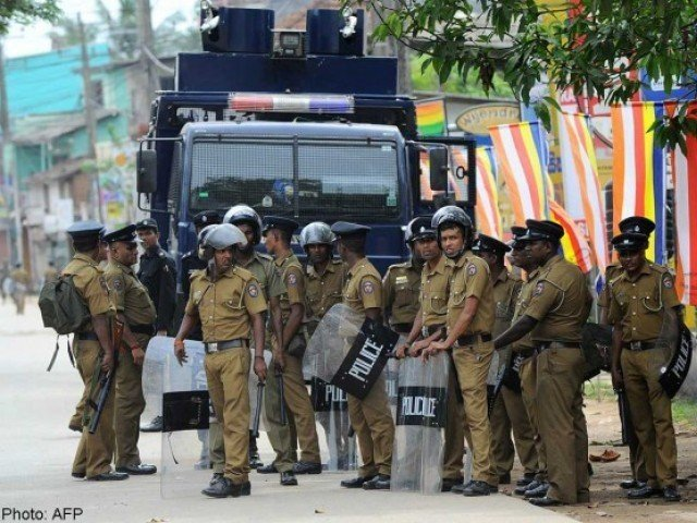 Police and joint opposition clash during Hambantota protest