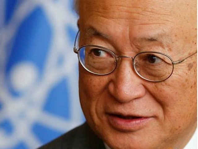 International Atomic Energy Agency (IAEA) Director General Yukiya Amano at the IAEA headquarters in Vienna, Austria Sep 26, 2017. Photo: REUTERS