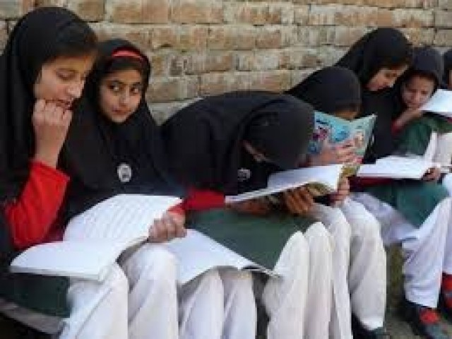 Girls studying at a school. PHOTO: REUTERS