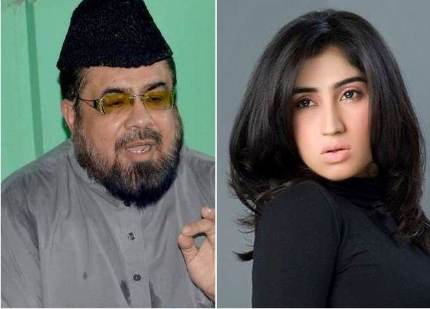 Mufti Abdul Qavi and Qandeel Baloch. PHOTOS: File