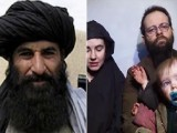 An unconfirmed picture of Afghan Taliban Zabihullah Mujahid and the Boyle family. PHOTO: REUTERS/FILE