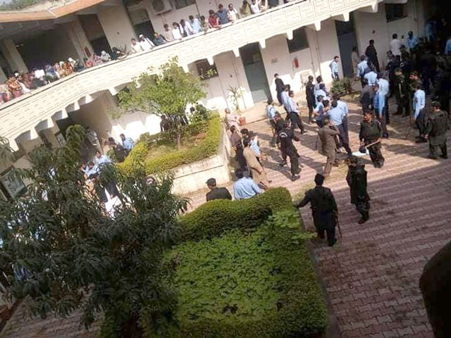Student protest re-starts after police crackdown in QAU