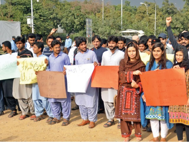 Over 100 QAU students detained after massive protest