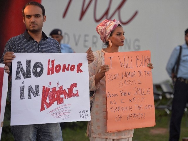 Rights activists have called for change for years, and Pakistan's young, urbanised population often take to social media for campaigns such as last year's #NoMoreKillingGirls. PHOTO: REUTERS