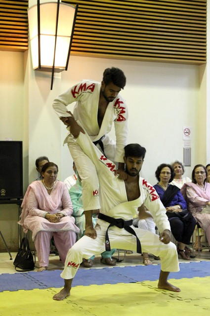 The event also featured a Jujitsu demonstration by young Pakistani athletes from the Jujutsu Organisation of Pakistan. PHOTO: SIHAM BASIR/EXPRESS
