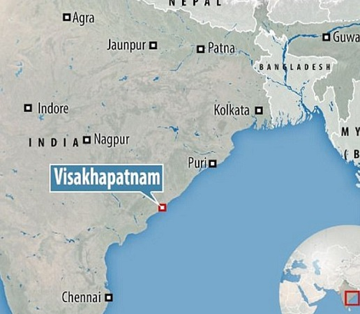The attack took place in the city of Visakhapatnam, in Andhra Pradesh, on the Bay of Bengal. PHOTO: ONLINE