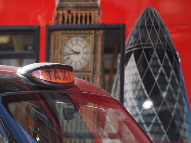 A cab in central London. PHOTO: REUTERS