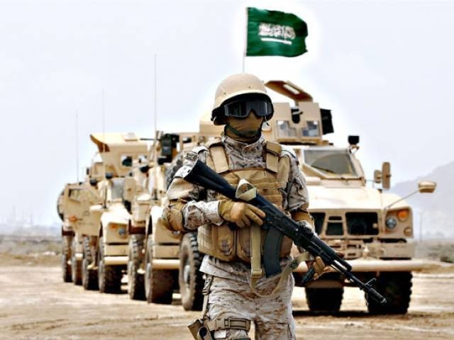 A file photo of Saudi military. PHOTO: AFP