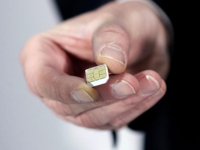 sim-card PHOTO:AFP