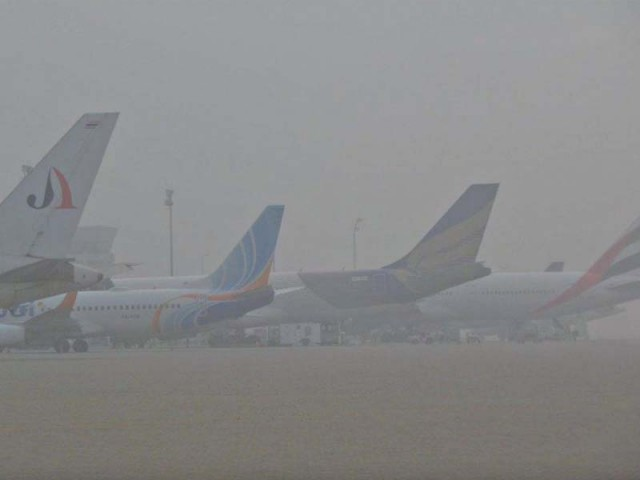 Aircraft parked at Sialkot International Airport. PHOTO: PPI