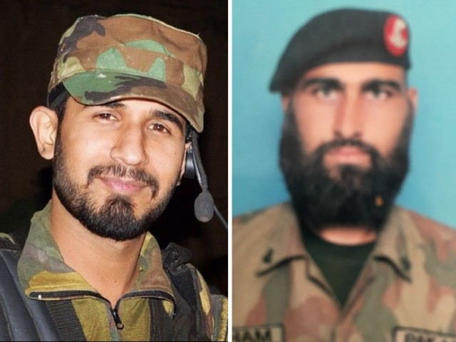 Pakistan Army men martyred in Bajaur Agency operation on Monday. PHOTO: ISPR
