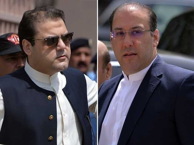 Former prime minister Nawaz Sharif's sons Hussain Nawaz (left) and Hassan Nawaz (right). PHOTO: FILE