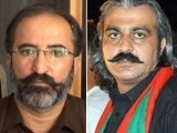 PTI MNA Dawar Khan Kundi and K-P Revenue Minister Ali Amin Gandapur. PHOTO: File