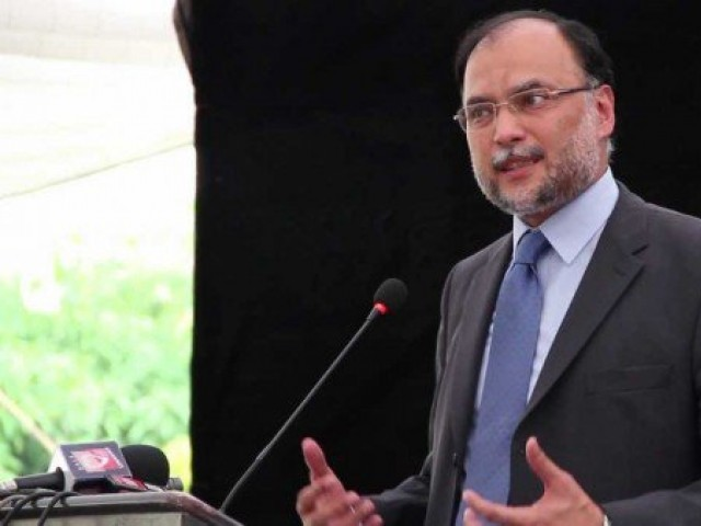 Interior Minister Ahsan Iqbal. PHOTO: APP / FILE