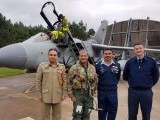 Chief of the Air Staff Air Chief Marshal Sohail Aman before flying an exercise training mission in Tornado aircraft at RAF Marham, UK. PHOTO: PAF