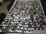 handout-photo-shows-mobile-phones-seized-by-mississippi-authorities-at-prisons-across-the-state