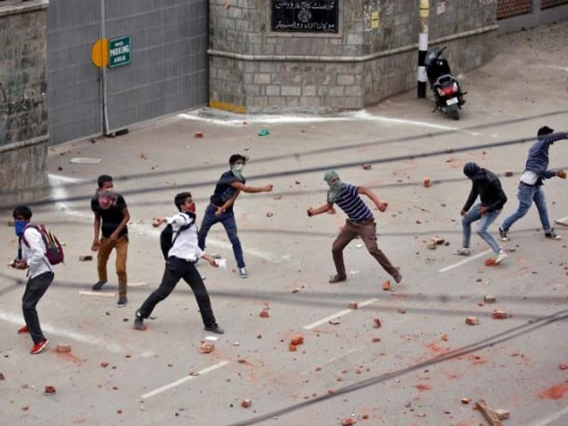 12000 cases against 'stone pelters' in Kashmir since last July