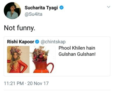 Rishi Kapoor takes it too far, abuses a woman on twitter