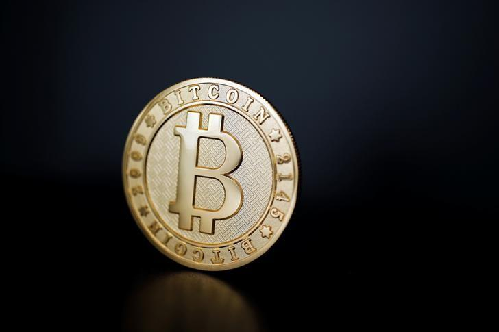 A Bitcoin coin is seen in an illustration