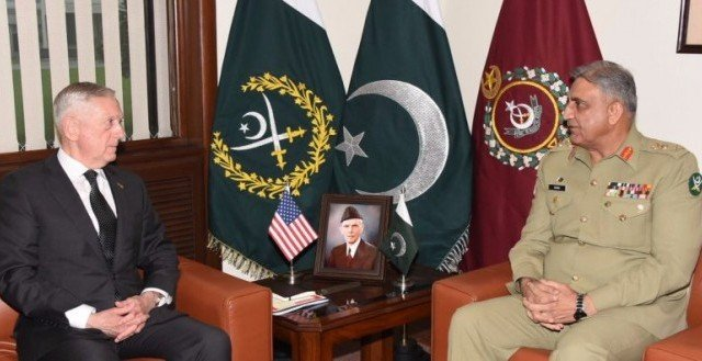 US Secretary of Defence James Mattis calls on PM Abbasi