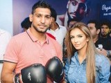Amir Khan and Faryal Makhdoom. PHOTO COURTESY: FAISAL FAROOQUI