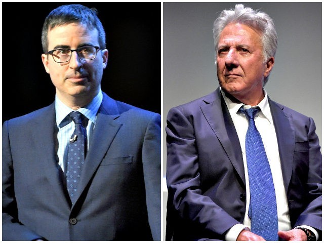 John Oliver challenges Dustin Hoffman on his response to sexual harassment allegations