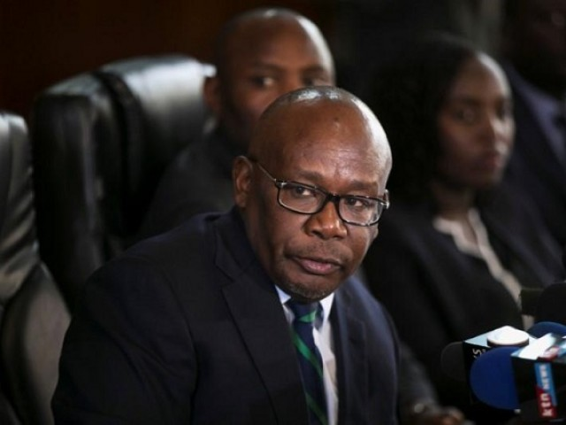 Kenya's Attorney General Githu Muigai speaks during a press conference in Nairobi, Kenya September 22, 2017. PHOTO: REUTERS