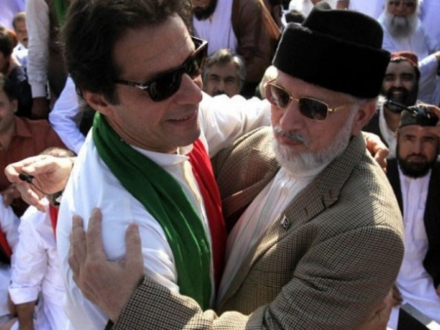 Imran Khan and Tahirul Qadri. PHOTO: FILE
