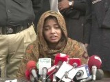 Alveena while speaking to the media, said that she was behind the crime along with her fiance.PHOTO: EXPRESS