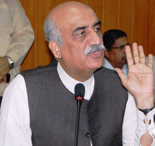 Leader of the Opposition in National Assembly, Syed Khursheed Shah. PHOTO: PID / FILE