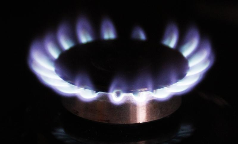 A gas burner is pictured on a cooker. PHOTO: REUTERS