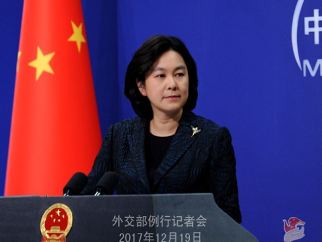 Spokesperson Hua Chunying says CPEC is a new cooperation framework jointly built by China and Pakistan. PHOTO: WWW.FMPRC.GOV.CN