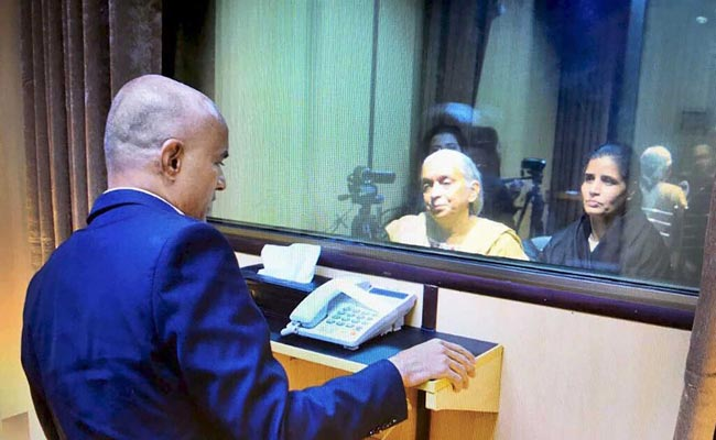 Jadhav wife, mother meet Indian Minister Sushma Swaraj upon return