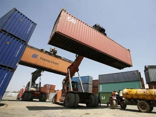 Containers at a port.  PHOTO: REUTERS