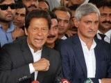 A file photo of Imran Khan and Jahangir Tareen.