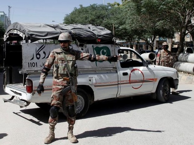 A file photo of security forces in Balochistan. PHOTO: REUTERS