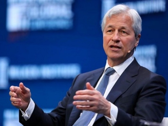 Jamie Dimon, Chairman and CEO of JPMorgan Chase & Co. speaks during the Milken Institute Global Conference in Beverly Hills, California, US, May 1, 2017.  PHOTO: REUTERS