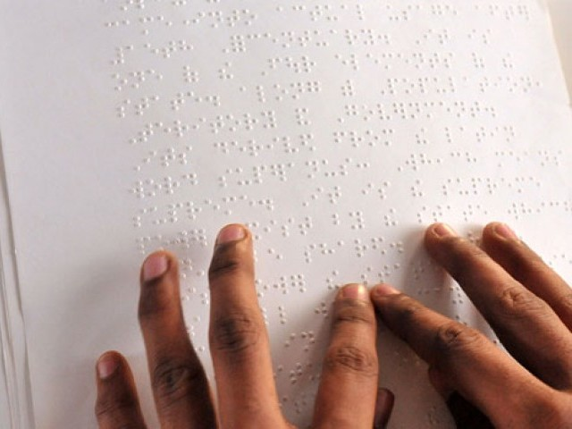 Event marks the birthday of Louis Braille the founder of reading text for blind. PHOTO: AFP