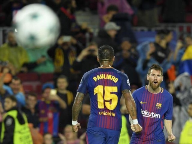 Barca remain unbeaten as the season hits its halfway point and hold a nine-point lead over nearest rivals Atletico Madrid, with defending champions Real Madrid languishing 16 points off the pace. PHOTO: AFP