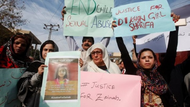 Zainab's murder has sparked protests across Pakistan. PHOTO: REUTERS