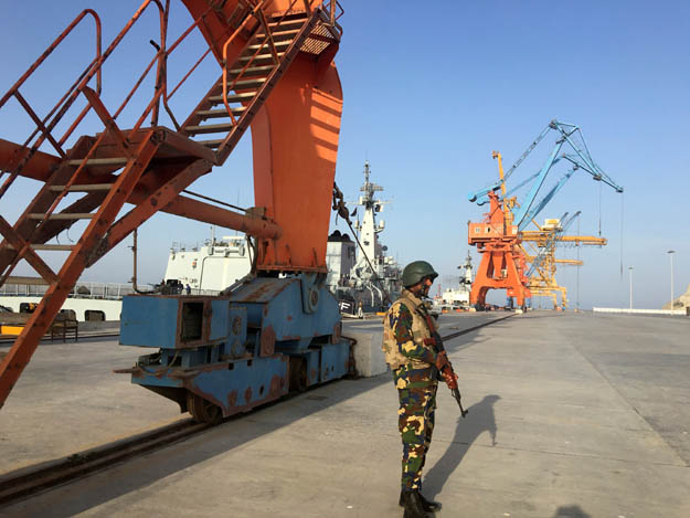 The Gwadar Port, an integral part of CPEC. PHOTO: REUTERS/FILE