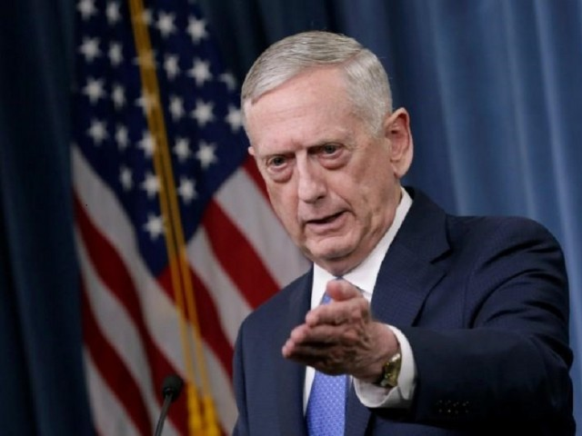 US Defense Secretary James Mattis. PHOTO: REUTERS